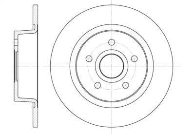 Задний тормозной диск на FORD TOURNEO CONNECT 'REMSA 6863.00'.