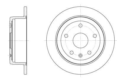 Задний тормозной диск на DAEWOO LEGANZA 'REMSA 6872.00'.