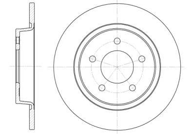 Задний тормозной диск на MAZDA 5 'REMSA 6880.00'.