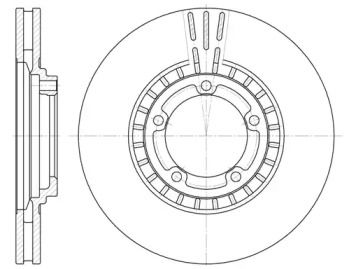 Вентилируемый передний тормозной диск на Хендай Н1 'REMSA 6884.10'.
