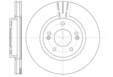 Вентилируемый передний тормозной диск на Фольксваген Дерби 'REMSA 6897.10'.