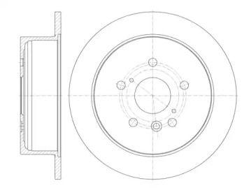 Задний тормозной диск на TOYOTA HIGHLANDER 'REMSA 6911.00'.