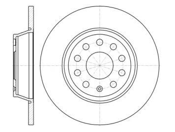 Задний тормозной диск на VOLKSWAGEN TIGUAN 'REMSA 6973.00'.