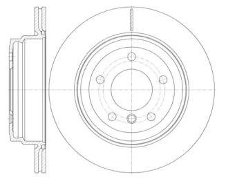 Вентилируемый задний тормозной диск на BMW X1 'REMSA 6977.10'.