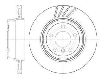 Вентилируемый задний тормозной диск на БМВ Х3 'REMSA 6979.10'.