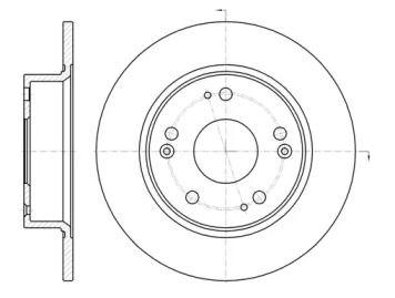 Задний тормозной диск на Хонда Прелюд 'REMSA 6984.00'.