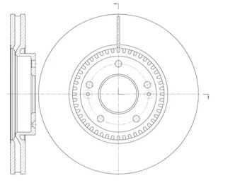 Вентилируемый передний тормозной диск на Киа Оптима 'REMSA 6988.10'.
