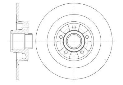Задний тормозной диск на RENAULT VEL SATIS 'REMSA 6999.00'.