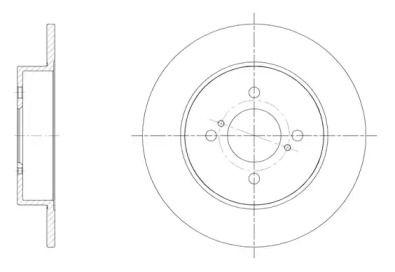 Задний тормозной диск на SUZUKI SWIFT 'REMSA 61537.00'.