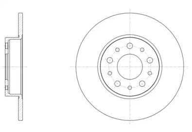 Задний тормозной диск на Фиат 500Л 'REMSA 61500.00'.