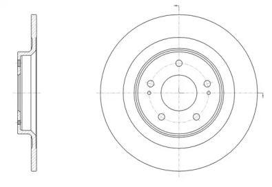 Задний тормозной диск на Митсубиси АСХ 'REMSA 61528.00'.