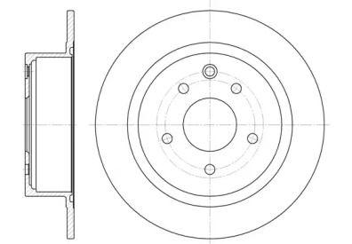 Задний тормозной диск на Ниссан Нв200 'REMSA 61530.00'.