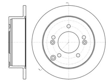 Задний тормозной диск на HYUNDAI XG 'REMSA 61399.00'.