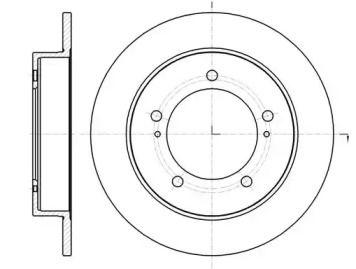 Передний тормозной диск на SUZUKI JIMNY 'REMSA 61490.00'.