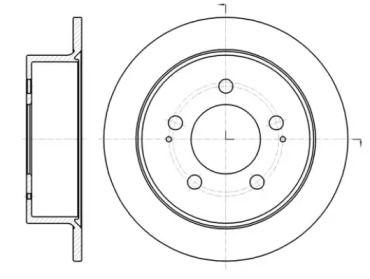 Задний тормозной диск на SSANGYONG ACTYON SPORTS 'REMSA 61414.00'.