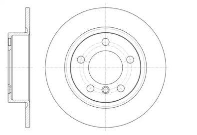 Задний тормозной диск на MINI COUNTRYMAN 'REMSA 61441.00'.