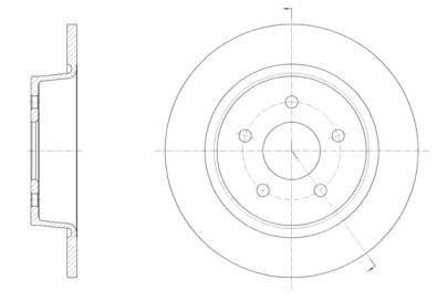Задний тормозной диск на FORD KUGA 'REMSA 61459.00'.