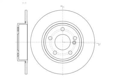 Задний тормозной диск на Мерседес Б класс 'REMSA 61465.00'.
