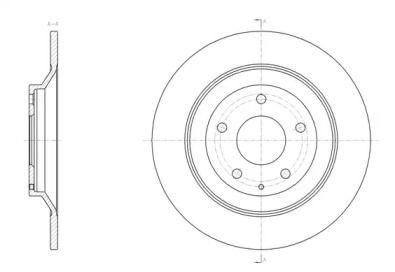 Задній гальмівний диск на Мазда СХ5 REMSA 61518.00.