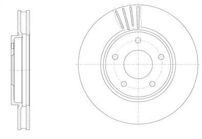 Вентилируемый передний тормозной диск на NISSAN NV200 'REMSA 61531.10'.