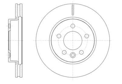 Вентилируемый передний тормозной диск на VOLKSWAGEN AMAROK 'REMSA 61418.10'.
