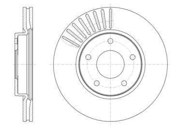 Вентилируемый передний тормозной диск на NISSAN PULSAR 'REMSA 61466.10'.