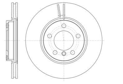 Вентилируемый передний тормозной диск на MINI COUNTRYMAN 'REMSA 61440.10'.