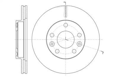 Вентилируемый передний тормозной диск на DACIA DUSTER 'REMSA 61478.10'.