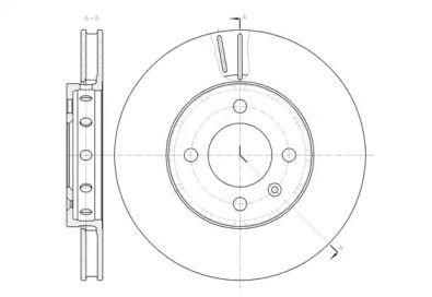 Вентилируемый передний тормозной диск на VOLKSWAGEN UP 'REMSA 61484.10'.