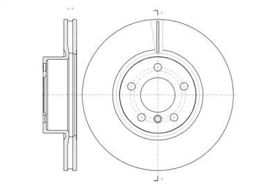 Вентилируемый передний тормозной диск на BMW X4 'REMSA 61454.10'.
