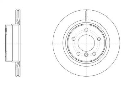 Вентилируемый задний тормозной диск на БМВ 2 'REMSA 61495.10'.