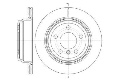 Вентилируемый задний тормозной диск на БМВ 4 'REMSA 61453.10'.