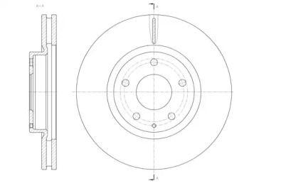 Вентильований передній гальмівний диск на Мазда СХ5 REMSA 61520.10.