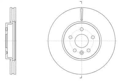 Вентилируемый передний тормозной диск на OPEL MOKKA 'REMSA 61534.10'.