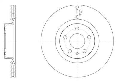 Вентилируемый передний тормозной диск на Фиат 500Л 'REMSA 61501.10'.