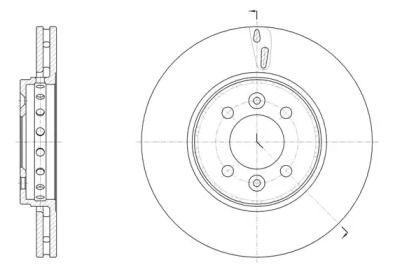 Вентилируемый передний тормозной диск на Рено Зое 'REMSA 61499.10'.