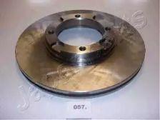 Вентилируемый передний тормозной диск на HYUNDAI PONY 'JAPANPARTS DI-057'.