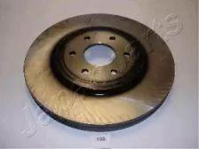 Вентилируемый передний тормозной диск на NISSAN PATHFINDER 'JAPANPARTS DI-109'.