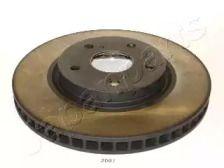 Вентилируемый передний тормозной диск на Лексус Ис 'JAPANPARTS DI-2007'.