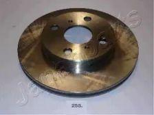 Вентилируемый передний тормозной диск на TOYOTA STARLET 'JAPANPARTS DI-255'.