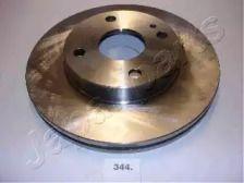 Вентильований передній гальмівний диск на Мазда Деміо 'JAPANPARTS DI-344'.