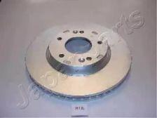 Вентилируемый передний тормозной диск на KIA CARENS 'JAPANPARTS DI-H12'.
