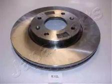 Вентилируемый передний тормозной диск на HYUNDAI GRANDEUR 'JAPANPARTS DI-K15'.