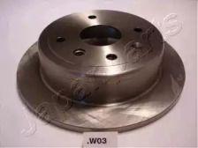 Задний тормозной диск 'JAPANPARTS DP-W03'.