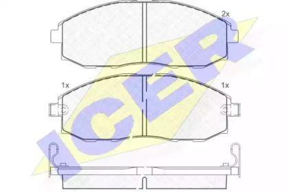 Тормозные колодки 'ICER 141266'.