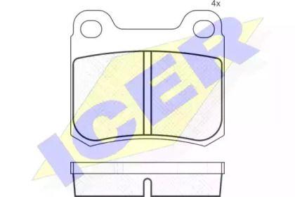 Тормозные колодки 'ICER 180420'.