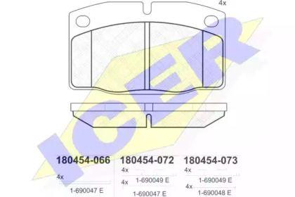 Гальмівні колодки 'ICER 180454'.