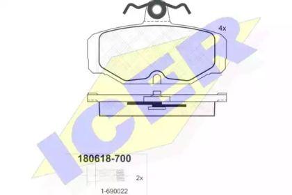 Тормозные колодки 'ICER 180618-700'.