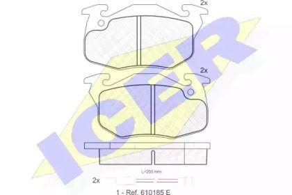 Гальмівні колодки 'ICER 180633'.