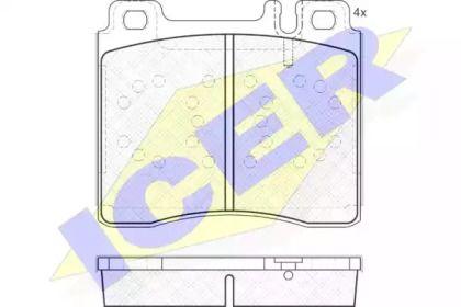 Гальмівні колодки 'ICER 181158'.